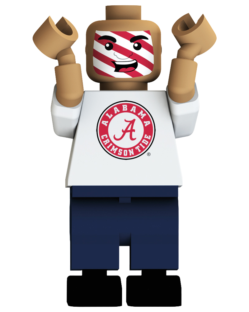 CFB BAM Alabama Crimson Tide Loudest Fan Blind Character Pack