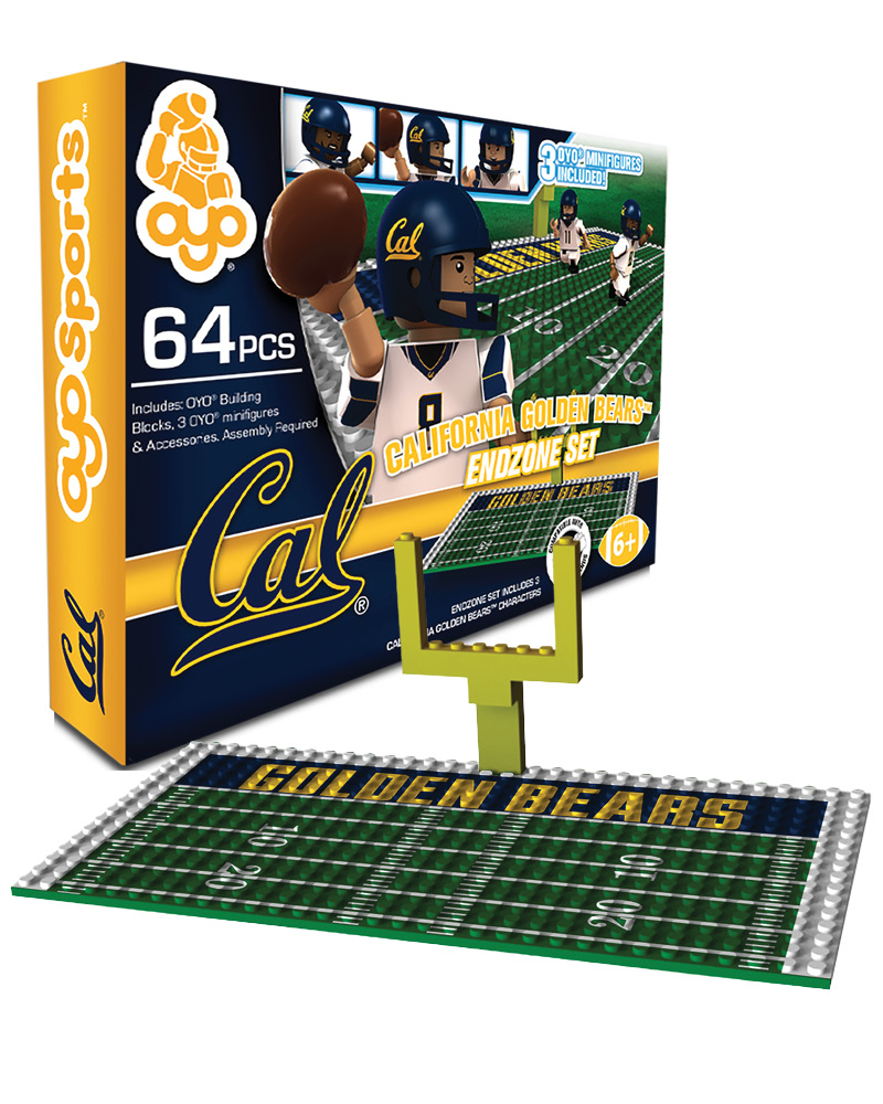 CFB CAL California Golden Bears N A N A Football Endzone Set