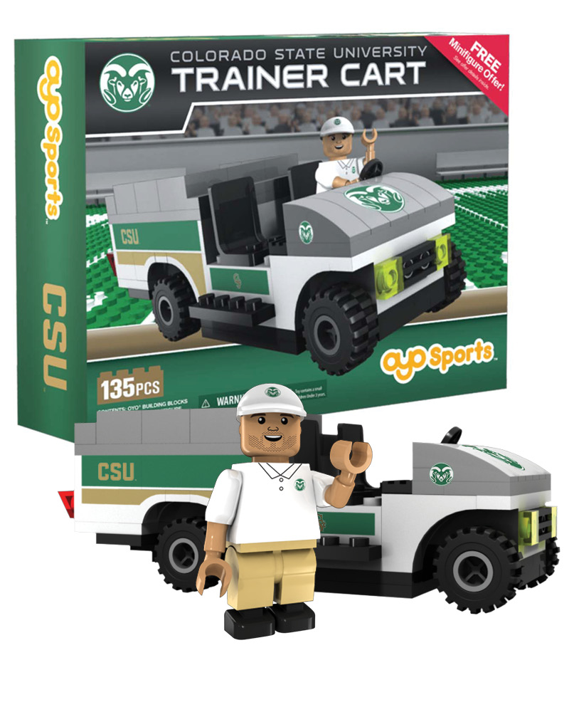 CFB CSU Colorado State Rams Trainer Cart
