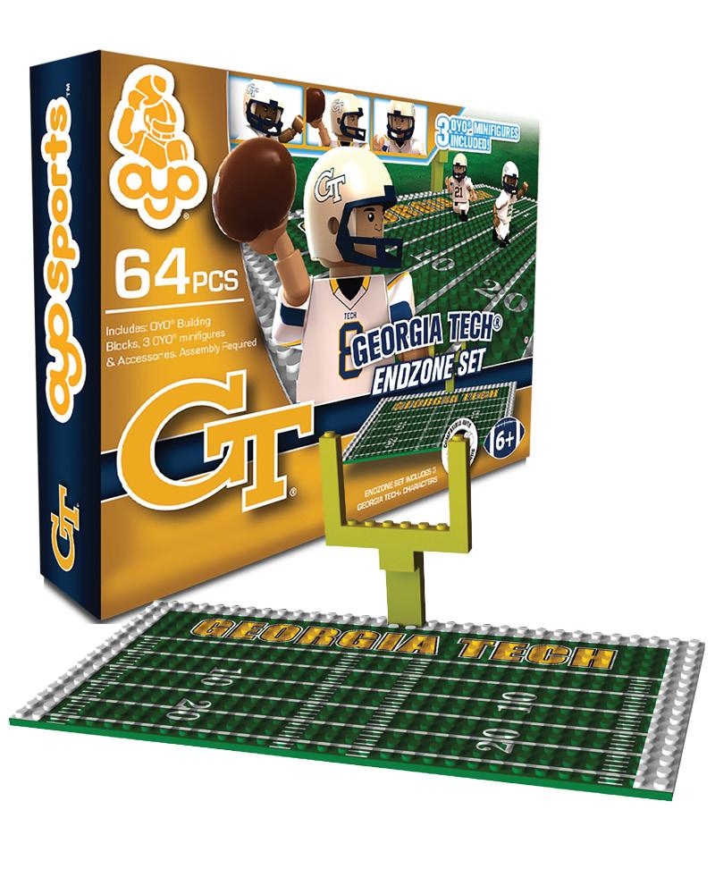 CFB GTH Georgia Tech Yellow Jackets N A N A Football Endzone Set