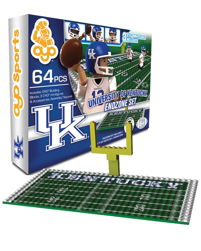 CFB KEN Kentucky Wildcats N A N A Football Endzone Set