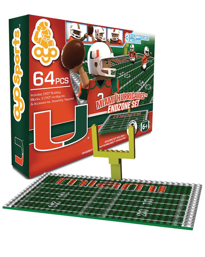 CFB - MIA - Miami Hurricanes N/A N/A Football Endzone Set 38008