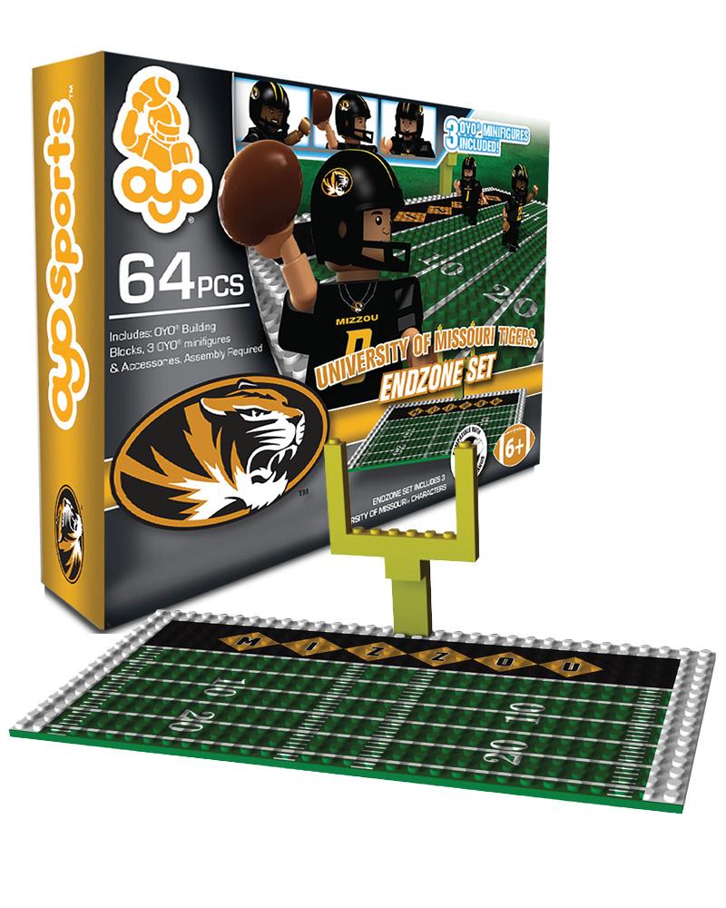 CFB MIZ Missouri Tigers N A N A Football Endzone Set