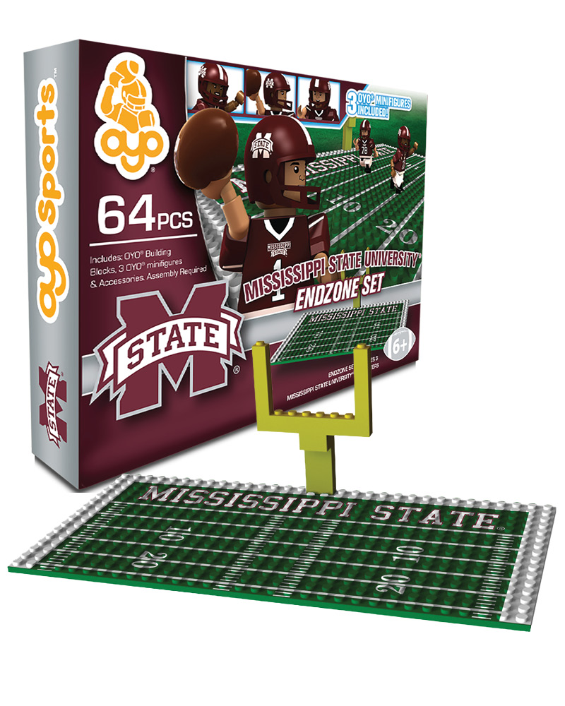 CFB MST Mississippi State Bulldogs N A N A Football Endzone Set