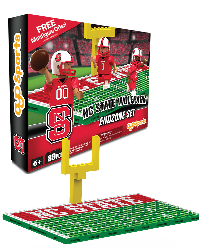 CFB NCS NC State Wolfpack Football Endzone Set