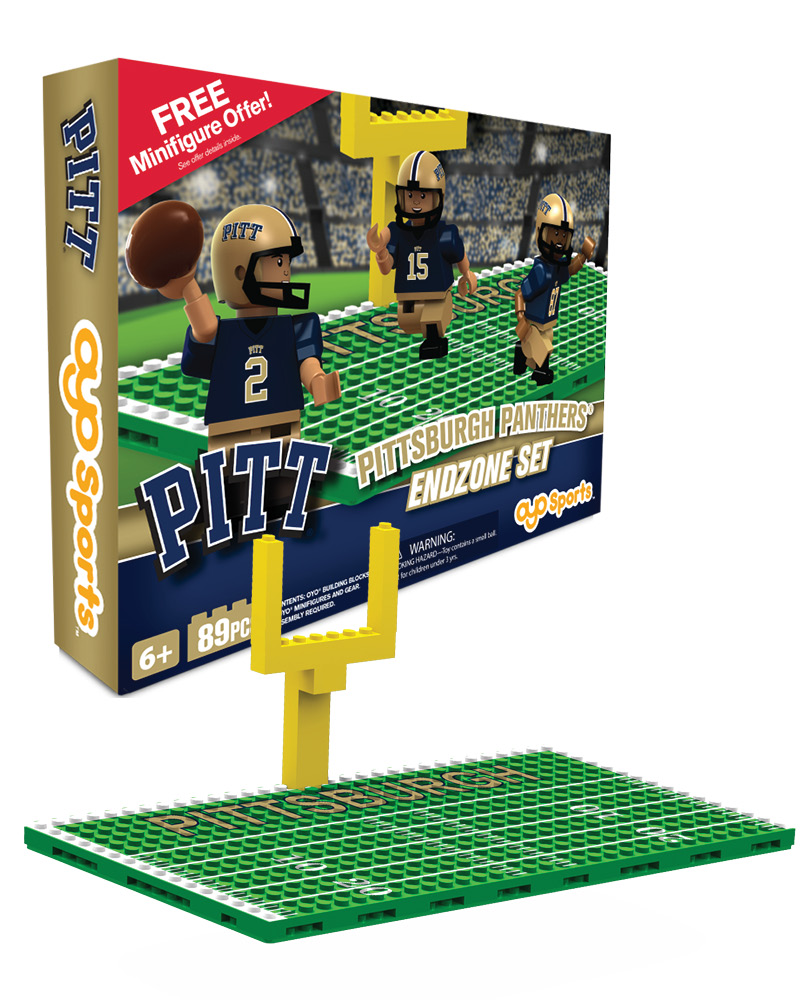 CFB PIT PITT Panthers Football Endzone Set