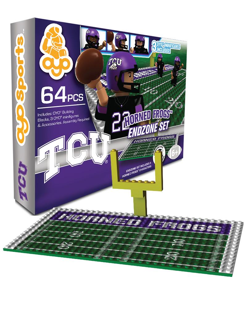 CFB TCU TCU Horned Frogs N A N A Football Endzone Set