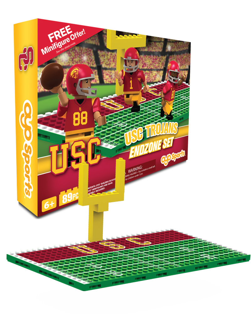 CFB USC USC Trojans N A N A Football Endzone Set
