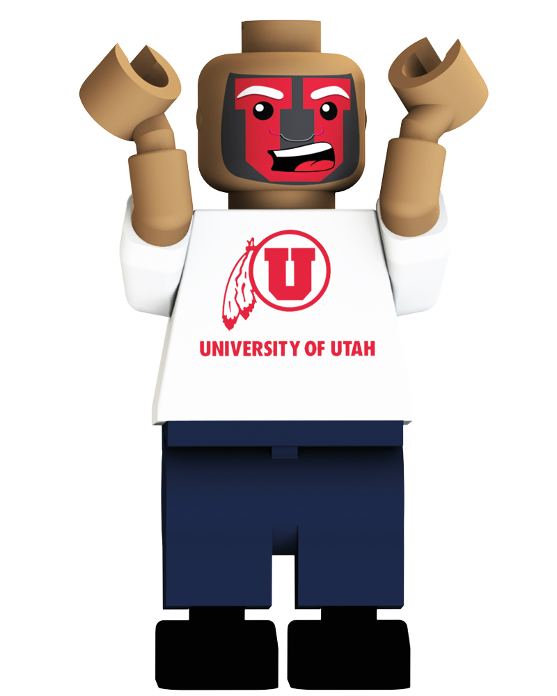 CFB UTA Utah Utes Loudest Fan Blind Character Pack