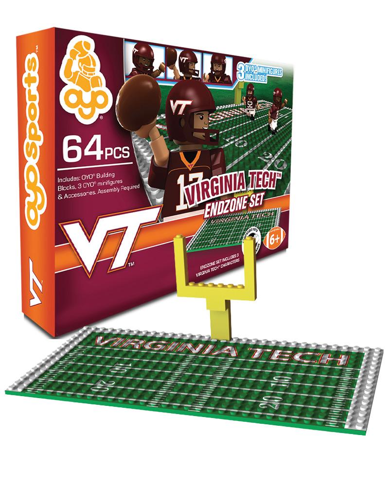 CFB VAT Virginia Tech Hokies N A N A Football Endzone Set
