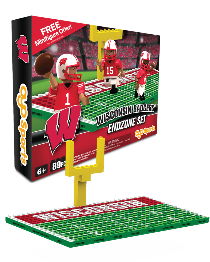 CFB WIS Wisconsin Badgers Football Endzone Set