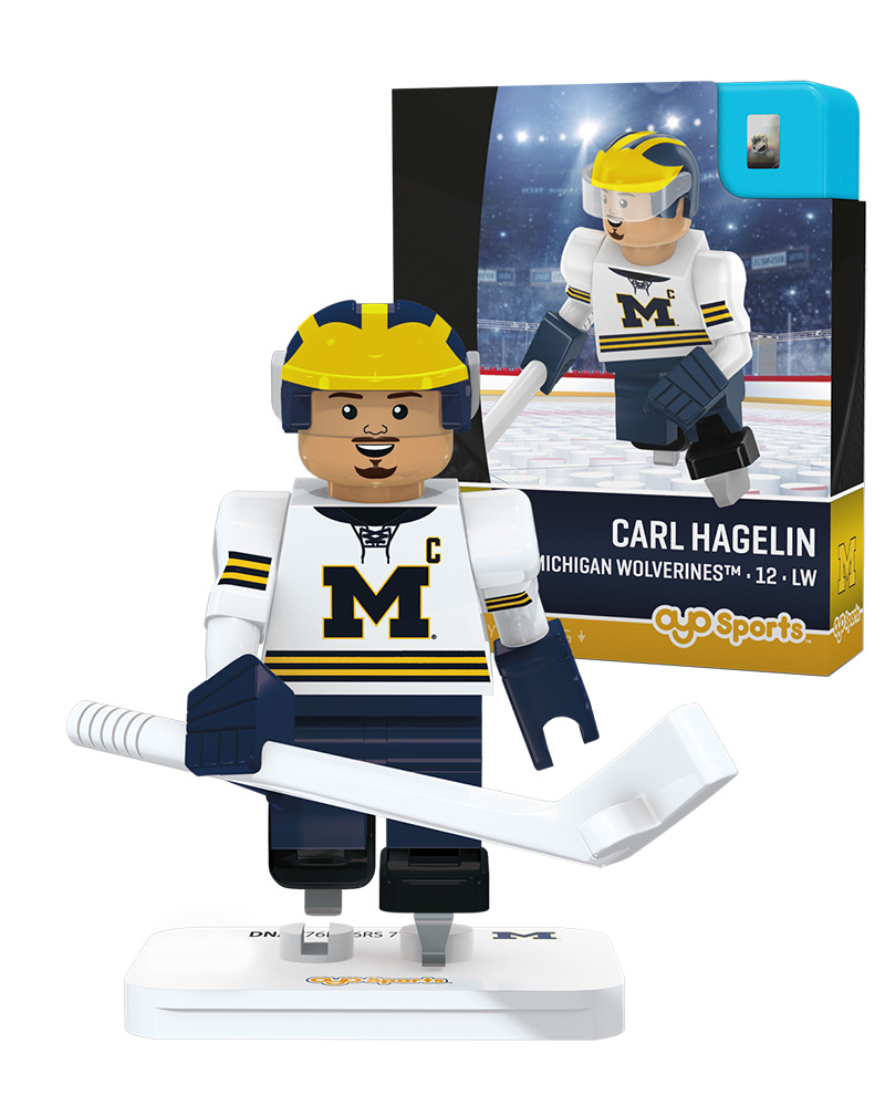 CHK MIC Michigan Wolverines CARL HAGELIN Campus Legend Home Uniform Limited Edition