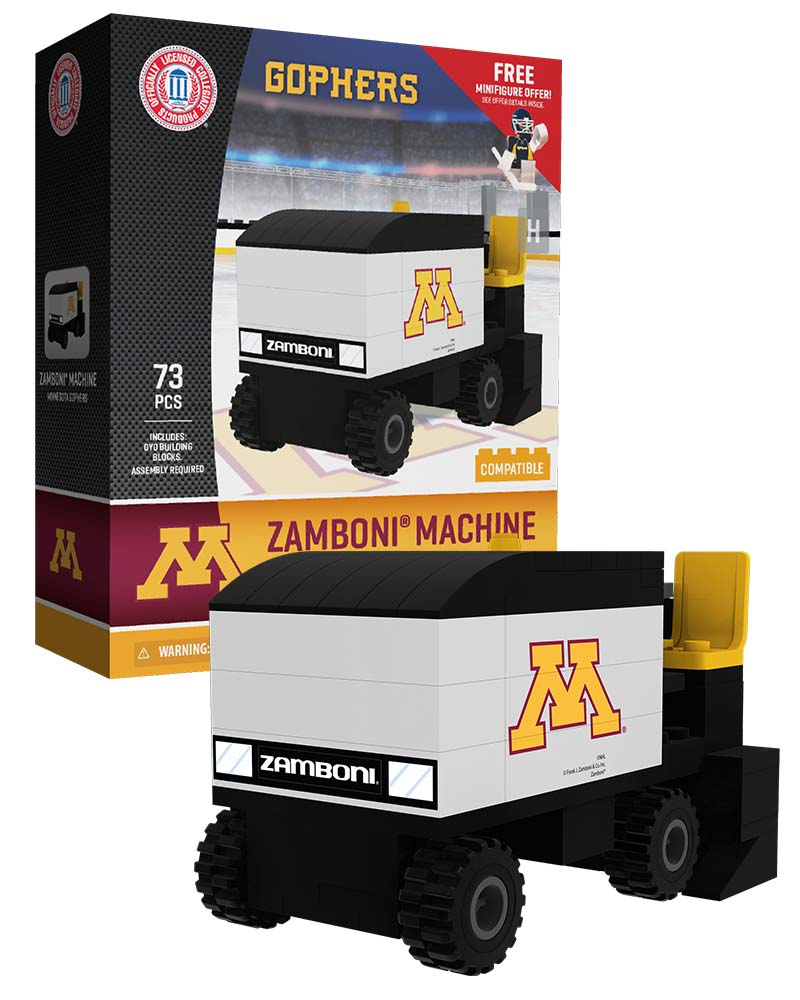 CHK MIN University of Minnesota Golden Gophers Hockey Zamboni Set
