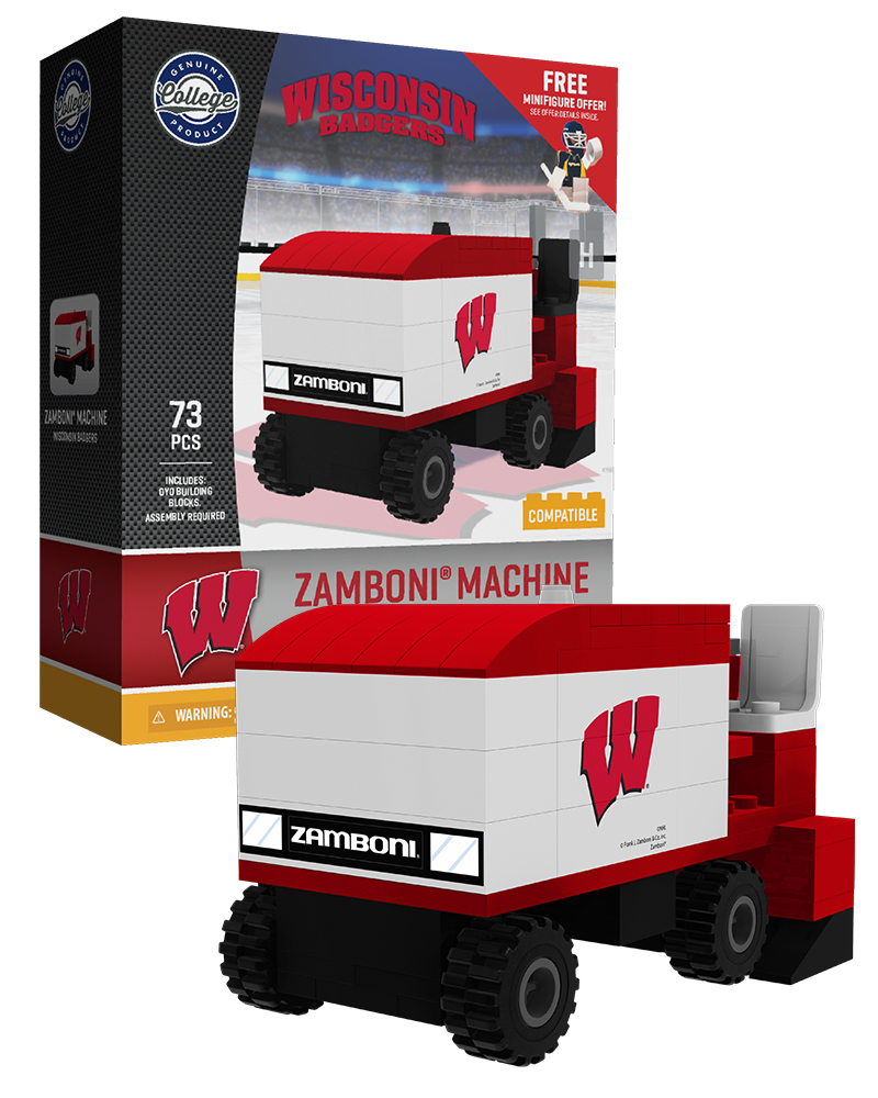 CHK WIS University of Wisconsin Hockey Zamboni Set