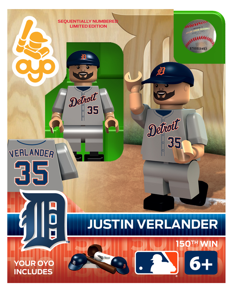 MLB - DET - Detroit Tigers Justin Verlander 150th Win Limited Edition