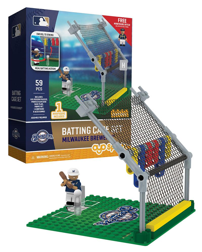 Batting Cage Set: Milwaukee Brewers