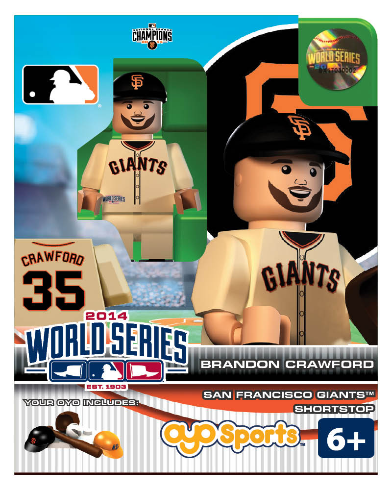 MLB - SFG - San Francisco Giants Brandon Crawford World Series Participant Limited Edition