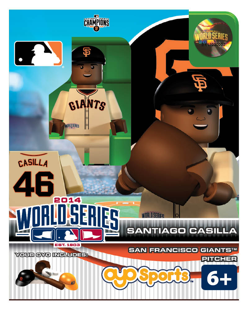 MLB - SFG - San Francisco Giants Santiago Castilla World Series Participant Limited Edition