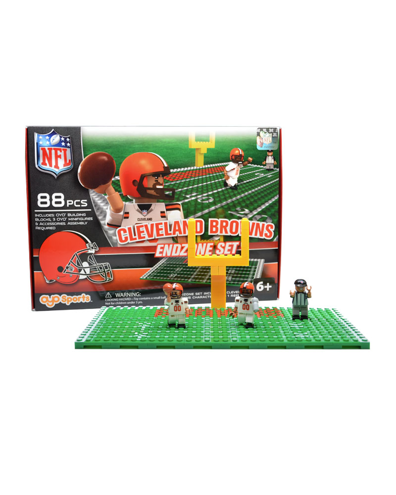 NFL CLE Cleveland Browns Football Endzone Set