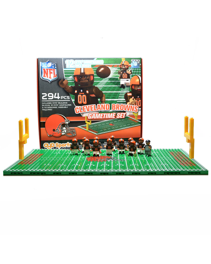 NFL CLE Cleveland Browns Football Team Gametime Set