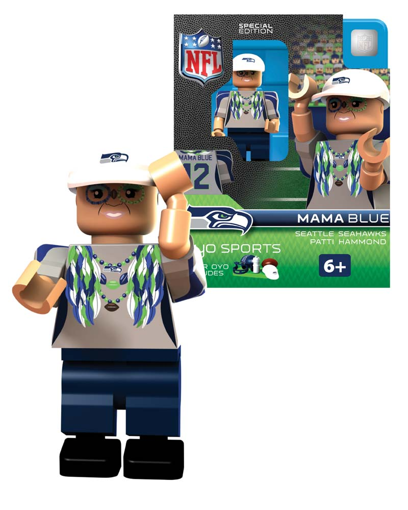 Seattle Seahawks Blitz Oyo Sports Player Minifigure