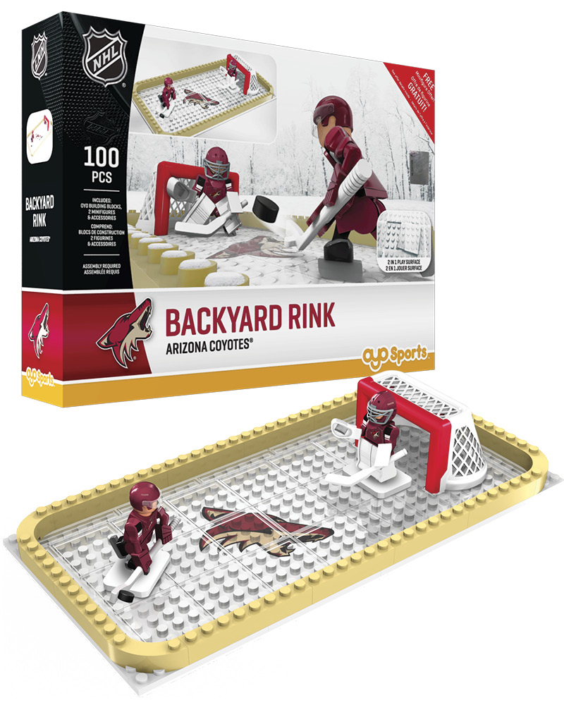 NHL ARZ Arizona Coyotes Backyard Rink Set