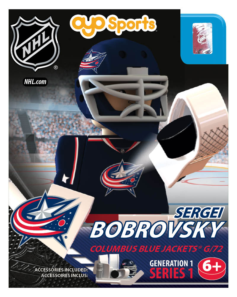 NHL - CBJ - Columbus Blue Jackets Sergei Bobrovsky Home Uniform Limited Edition NHL Goalie