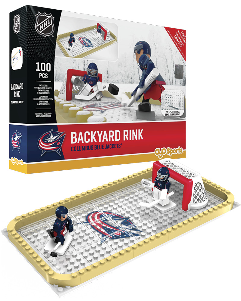 NHL CBJ Columbus Blue Jackets Backyard Rink Set