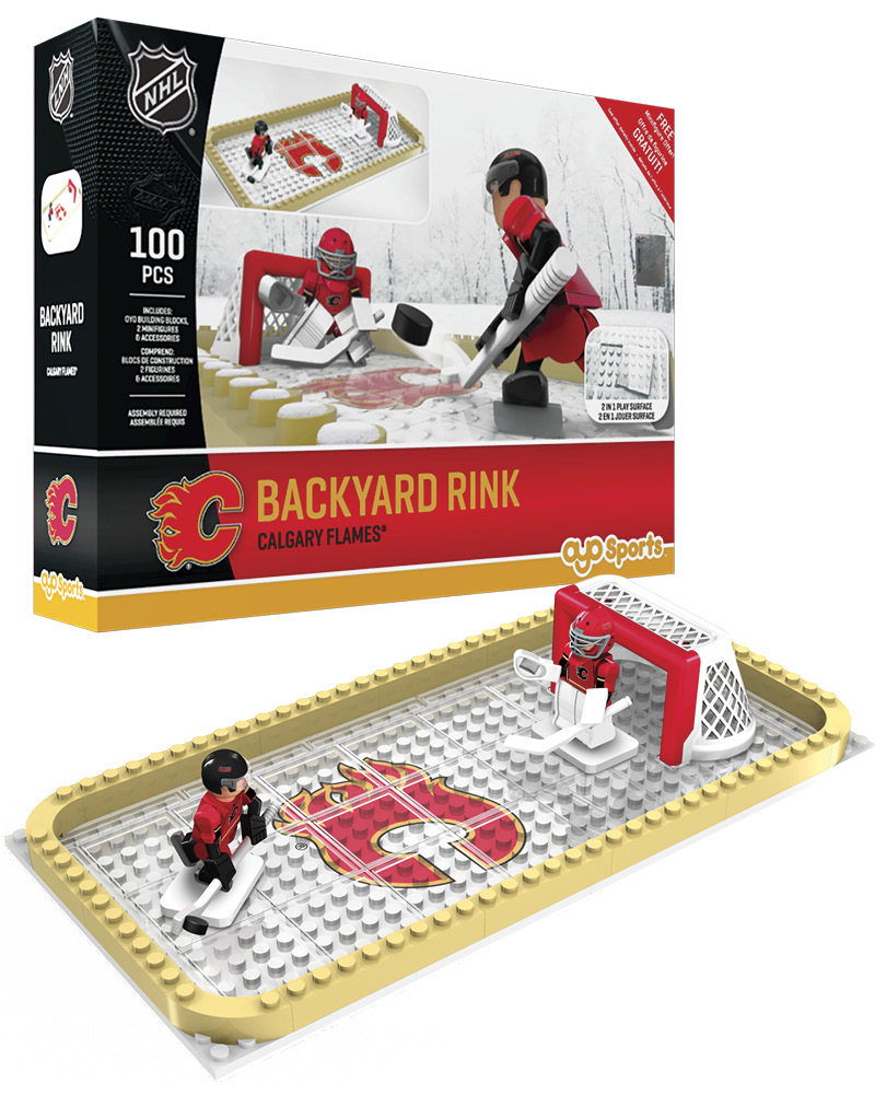 NHL CGY Calgary Flames Backyard Rink Set
