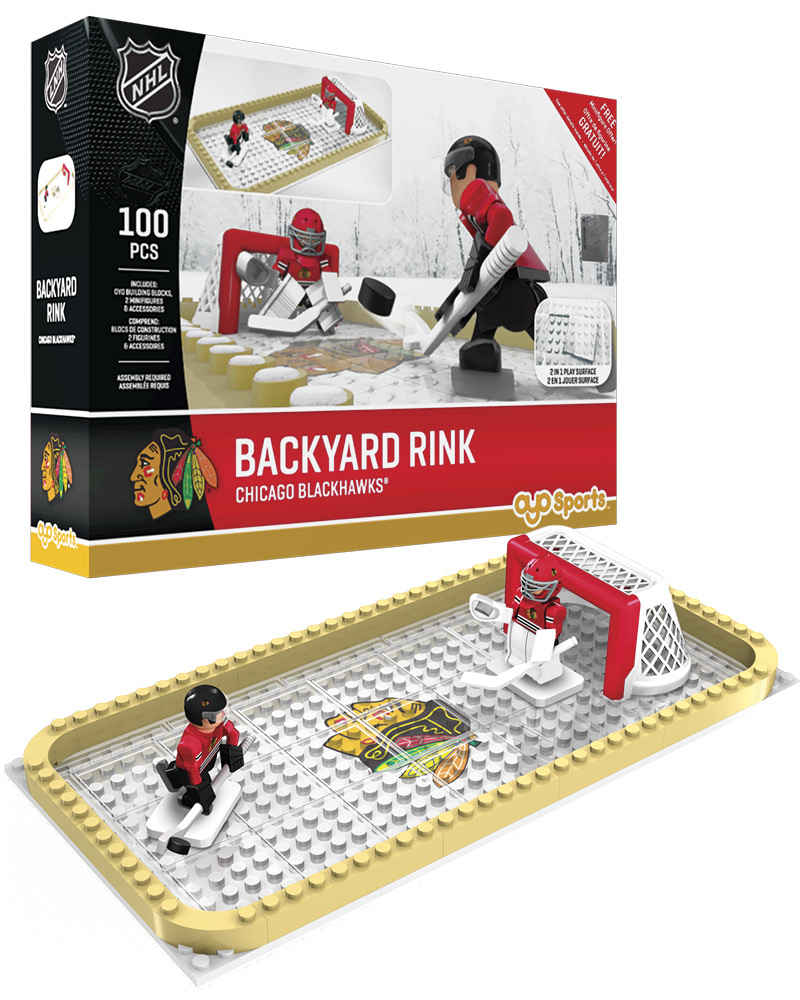 NHL CHI Chicago Blackhawks Backyard Rink Set