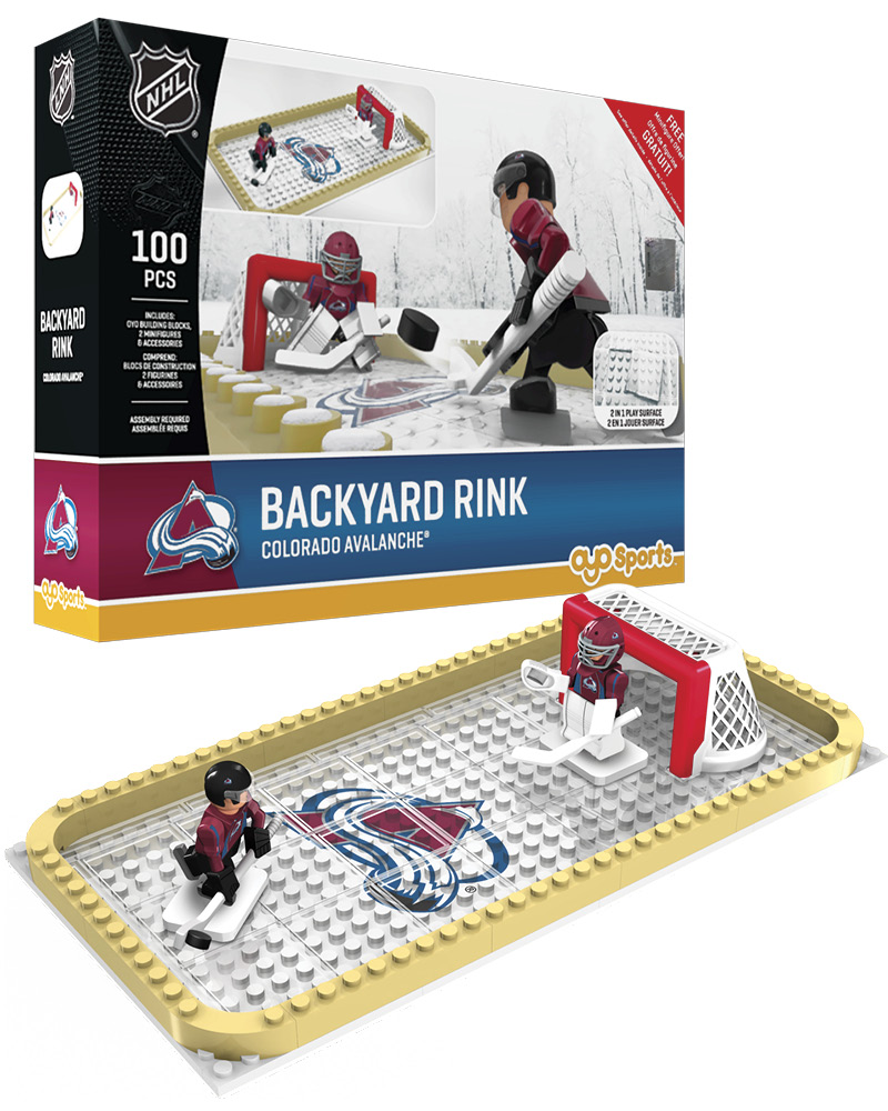 NHL COL Colorado Avalanche Backyard Rink Set