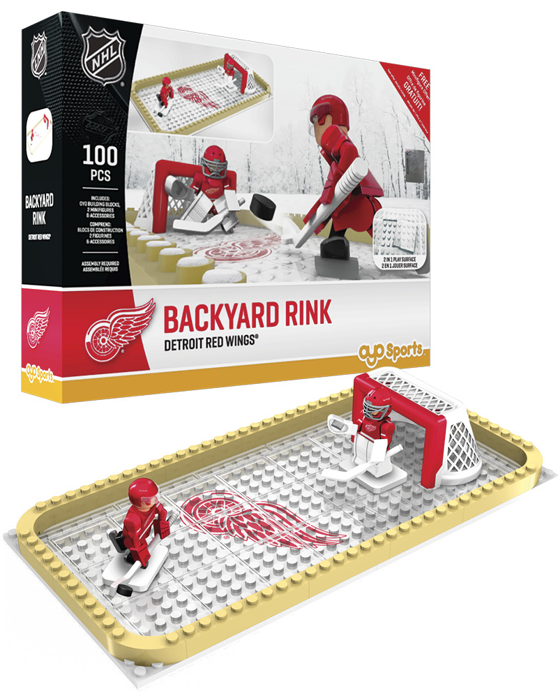 NHL DET Detroit Red Wings Backyard Rink Set