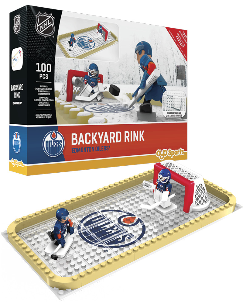 NHL EDM Edmonton Oilers Backyard Rink Set