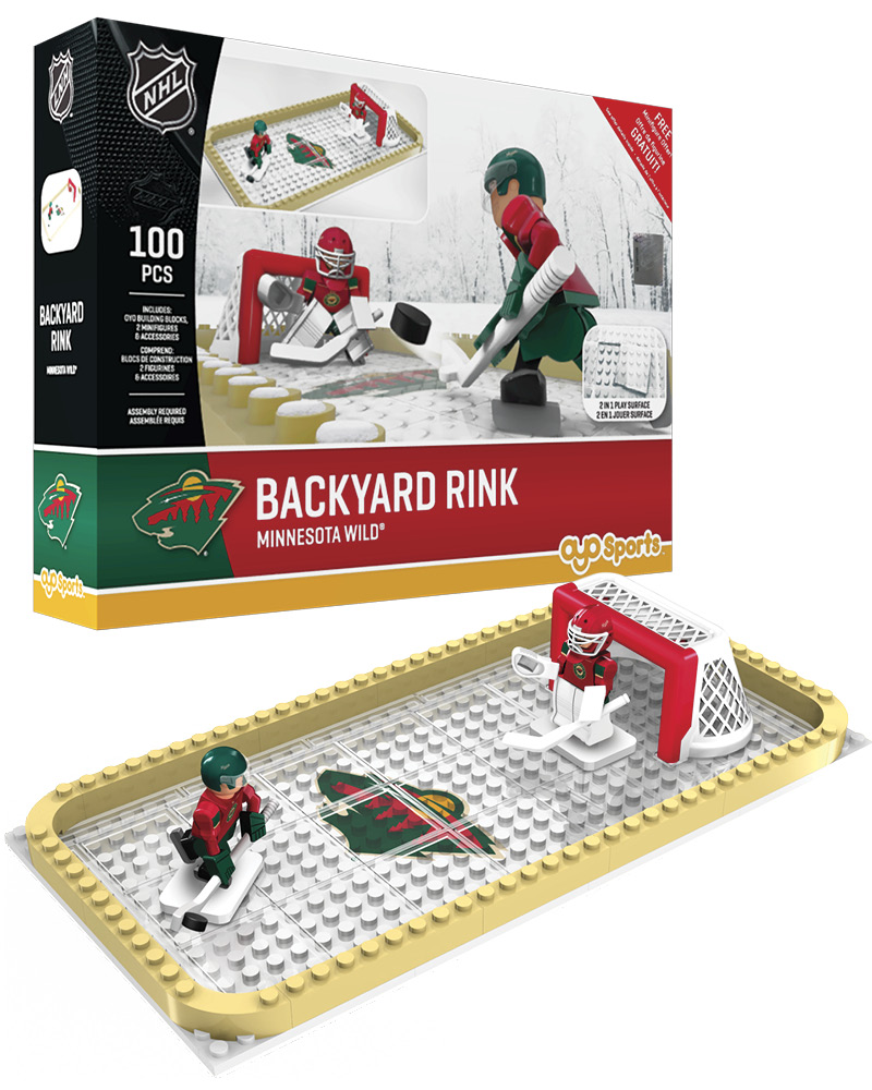 NHL MIN Minnesota Wild Backyard Rink Set