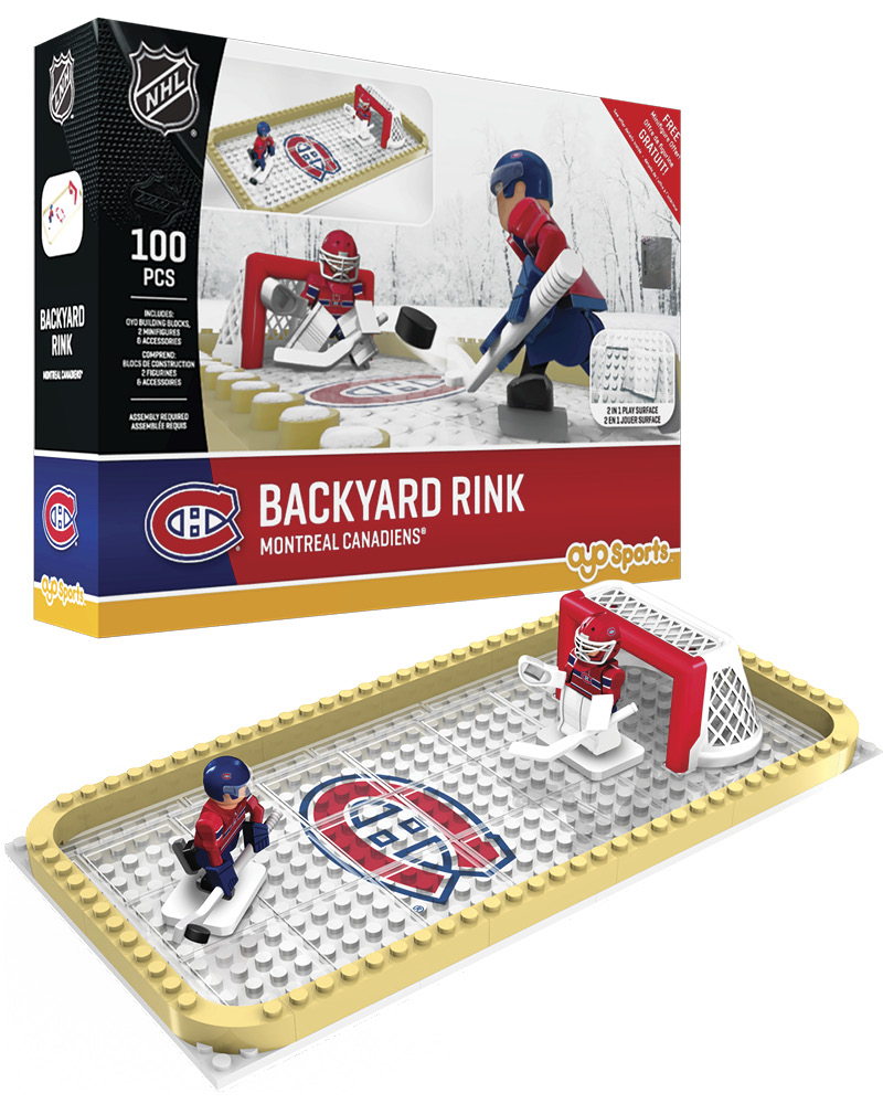 NHL MTL Montreal Canadiens Backyard Rink Set