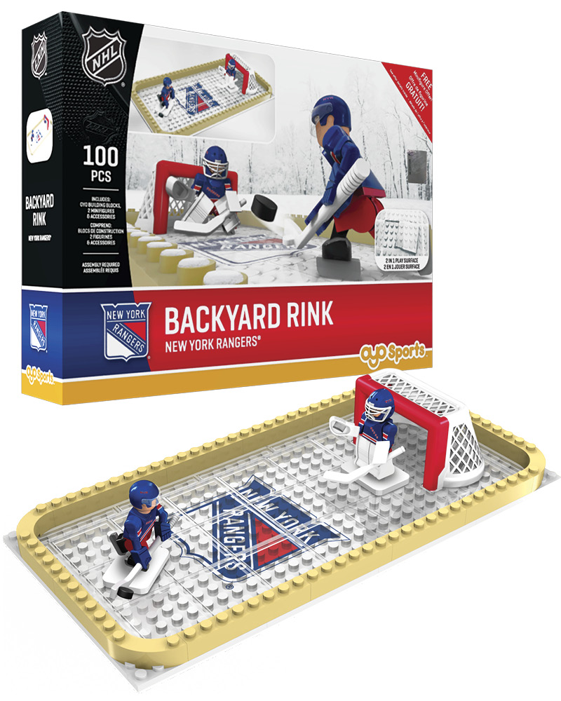 NHL NYR New York Rangers Backyard Rink Set