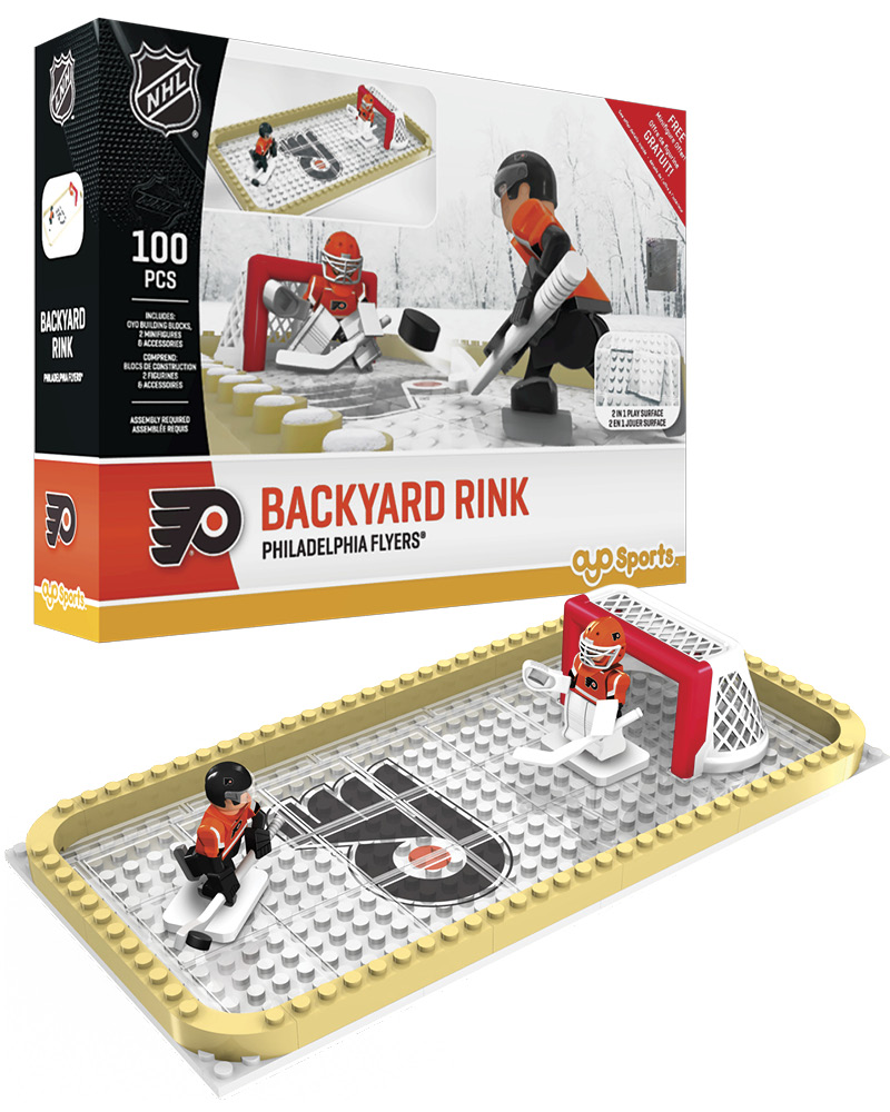 NHL PHI Philadelphia Flyers Backyard Rink Set