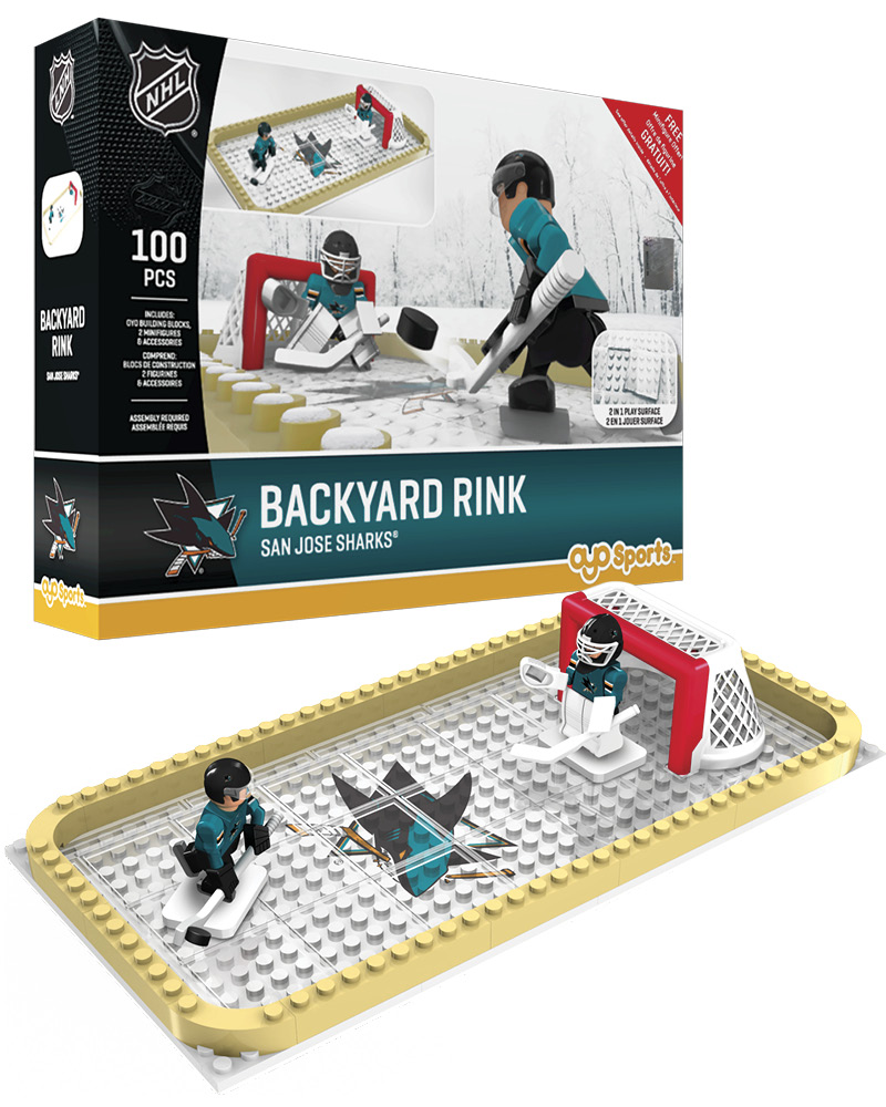 NHL SJS San Jose Sharks Backyard Rink Set