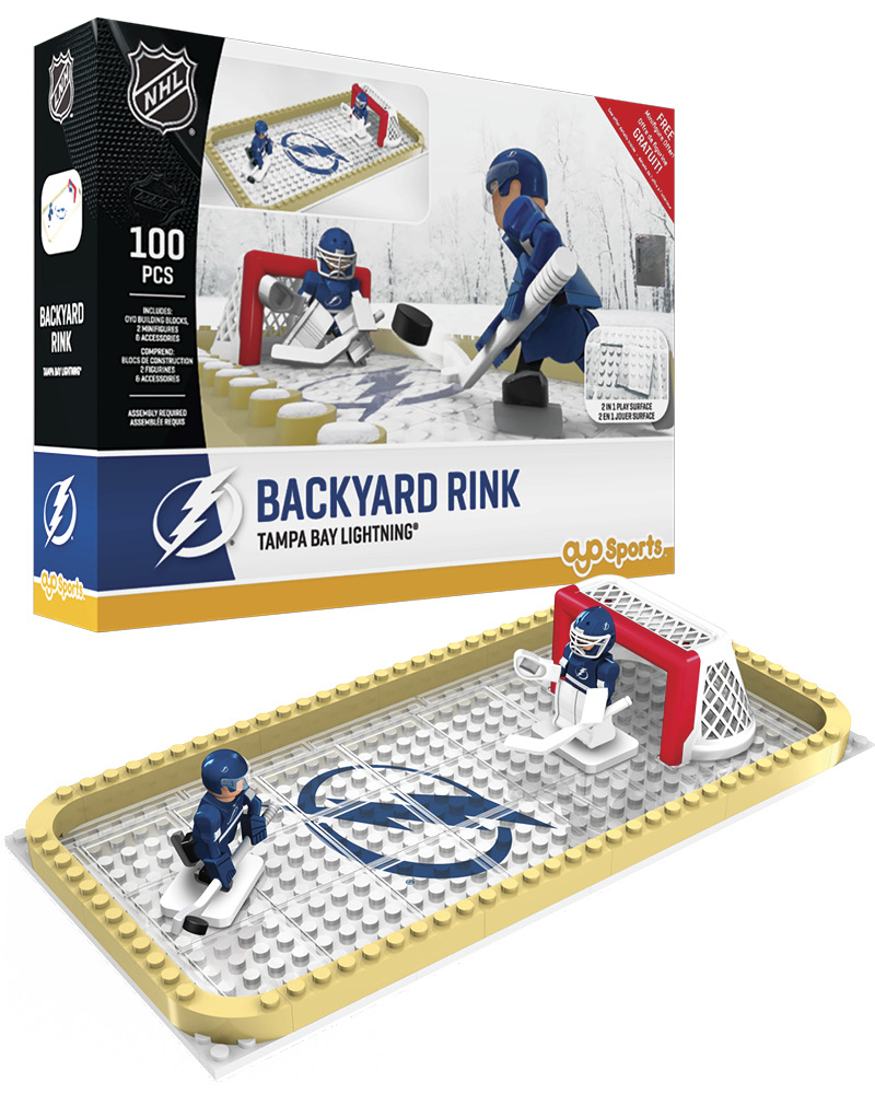 NHL TBL Tampa Bay Lightning Backyard Rink Set