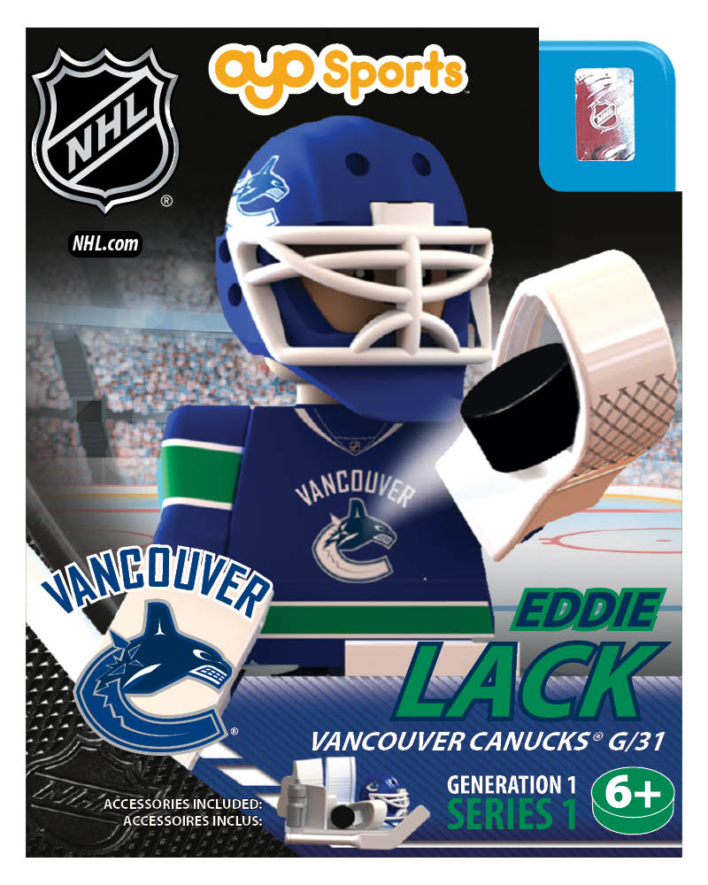 NHL - VAN - Vancouver Canucks Eddie Lack Home Uniform Limited Edition NHL Goalie