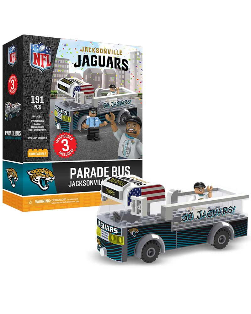 e1c5cf1b Jacksonville Jaguars Parade Bus 191 piece Play Set