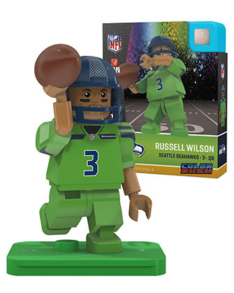 3 Russell Wilson Seattle Seahawks Color Rush Uniform
