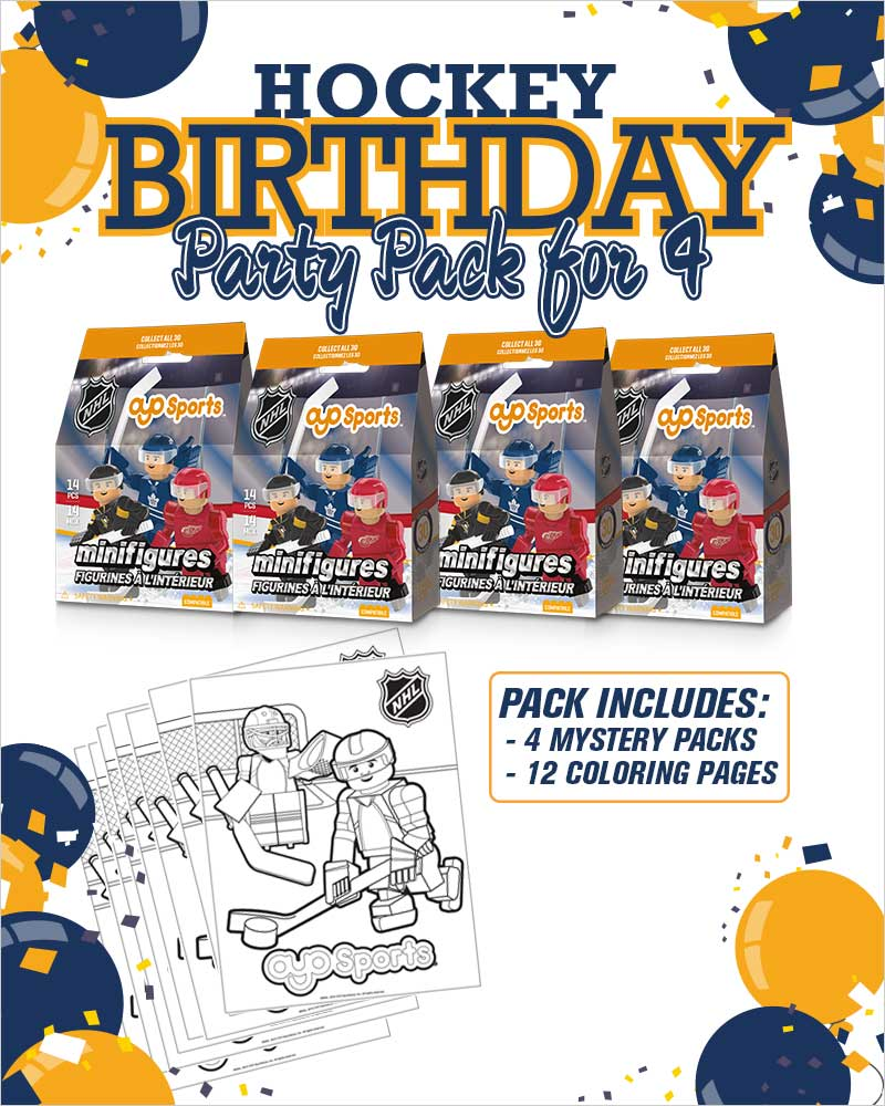 nhl birthday party bundle 4 pack. Black Bedroom Furniture Sets. Home Design Ideas