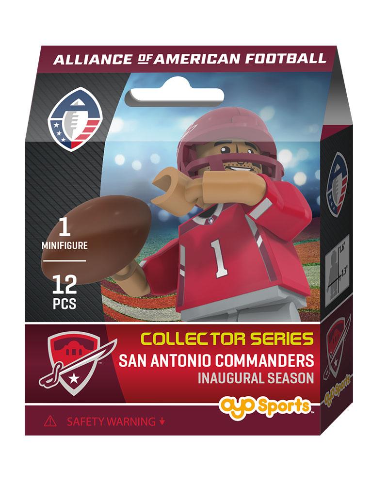 2019 Inaugural Season Minifigure San Antonio Commanders